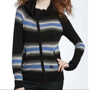 L.A.M.B. Gwen Wool Cashmere Striped Sweater M